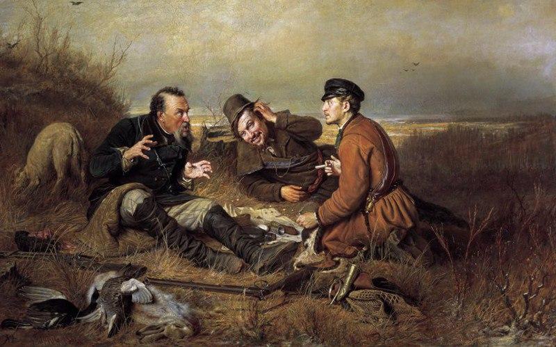 Перов Три охотника на привале