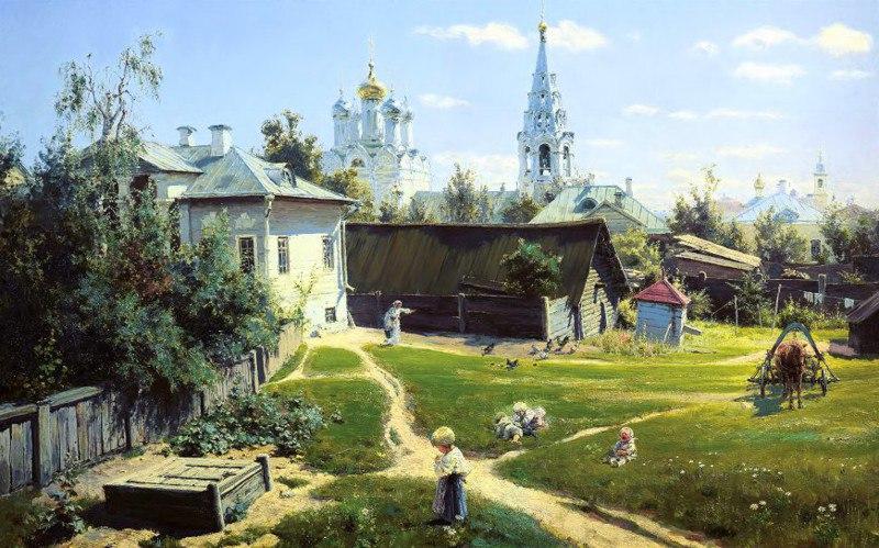 Поленов Московский дворик