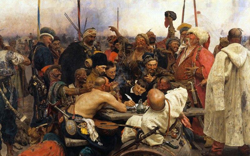 Репин Запорожские казаки пишут письмо турецкому султану