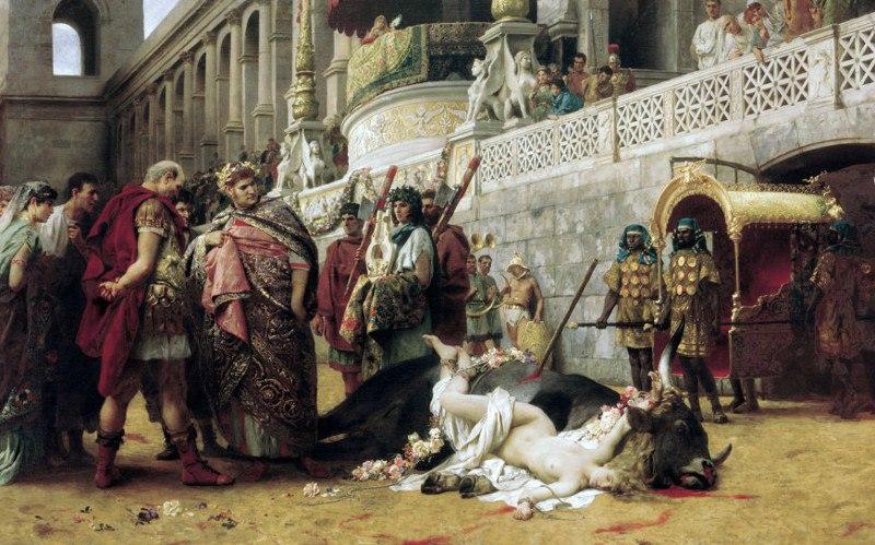 СемирадскийХристианская Дирцея в цирке Нерона