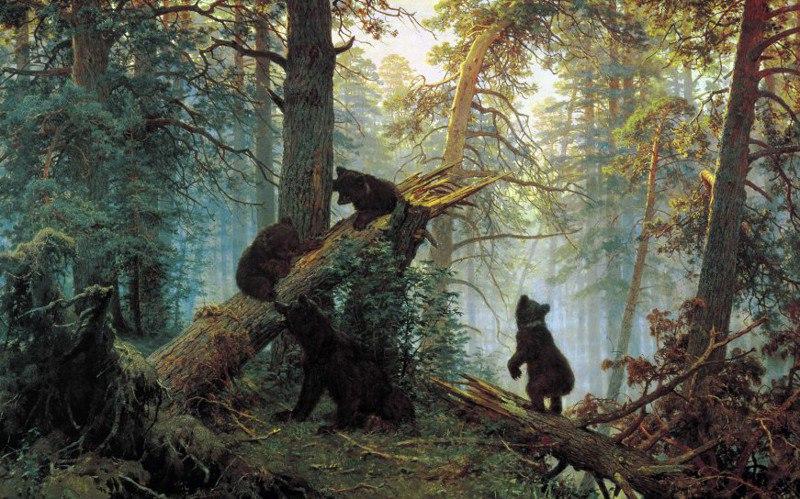 Шишкин Утро в сосновом лесу