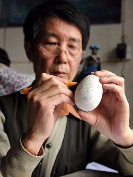 Ювелирная резьба на яичной скорлупе1