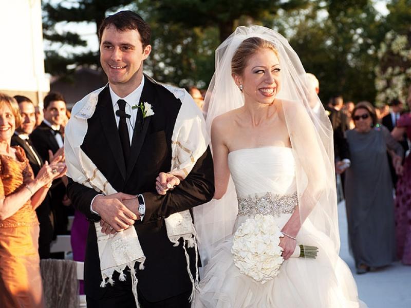 свадебное торжество Челси Клинтон и Марка Мезвински