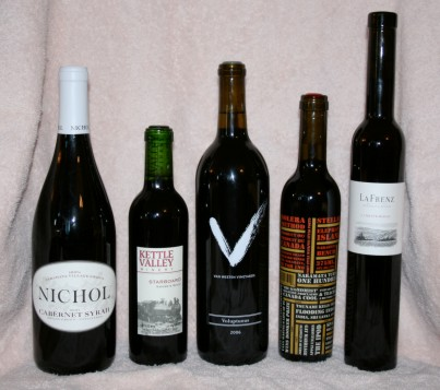 Picture of 5 wine bottles