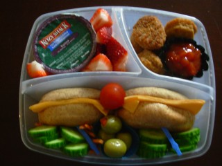 Bento #7 - bagle with cheese