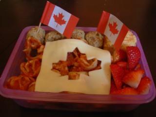 Canada Day Bento