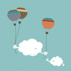 облака и воздушные шары