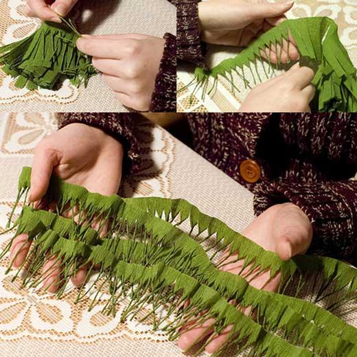Как сделать лианы своими руками из бумаги