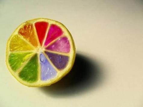 Лимон в радуге