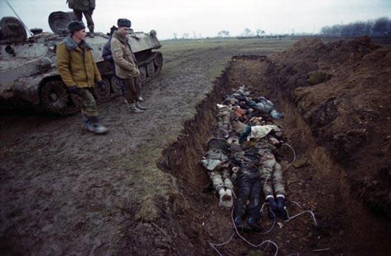 Убитых запытанных чеченцев о