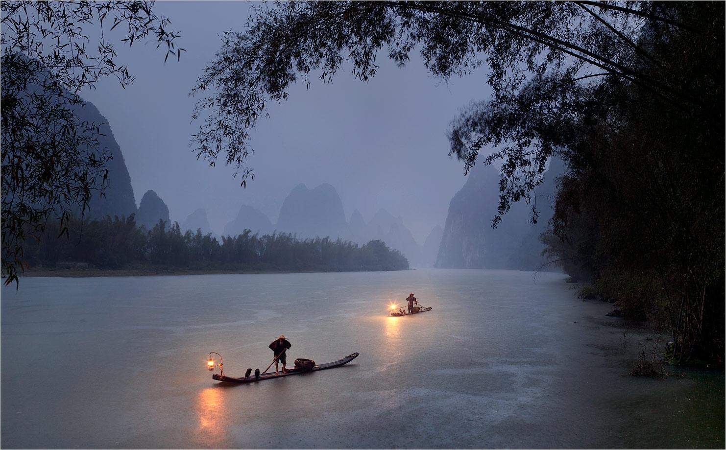 Ливень на реке Ли.
