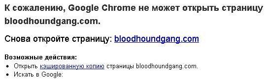 Украинские хакеры заблоктровали сайт Bloodhound Gang