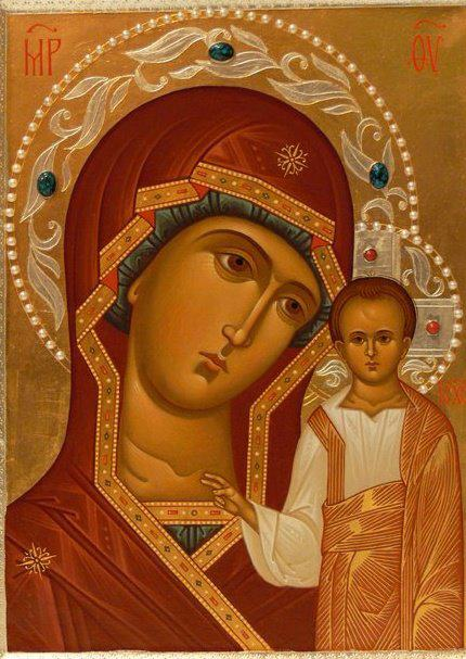 Казанская икона Божией Матери, современная копия
