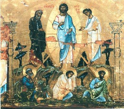 одна из самых древних икон Преображения Господня (4-5 век)