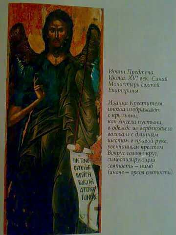 Святой Иоанн Креститель - Ангел пустыни. Икона со Святой Горы Синай (Египет).