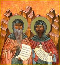 Преподобные Варсонофий Великий и Иоанн пророк
