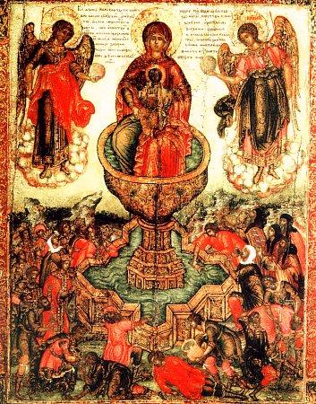 икона Живоносный Источник, Москва, 17 век