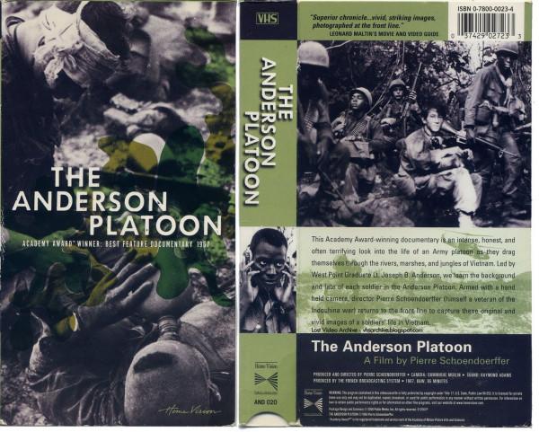 Anderson Platoon VHS box
