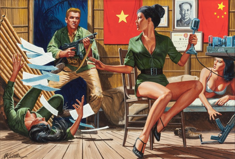 Saigon-Sallys-Sin-Barracks-For-Men-Only-magazine-cover-May-1965