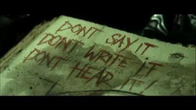 evil dead - book warning