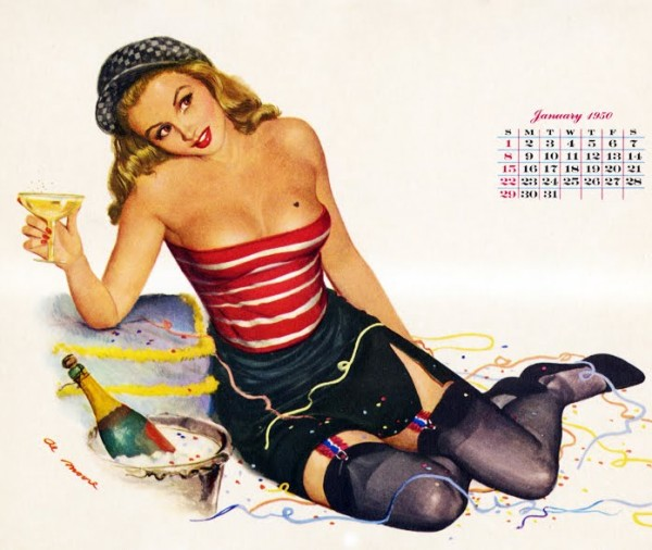 New Year's Pin Up Al Moore