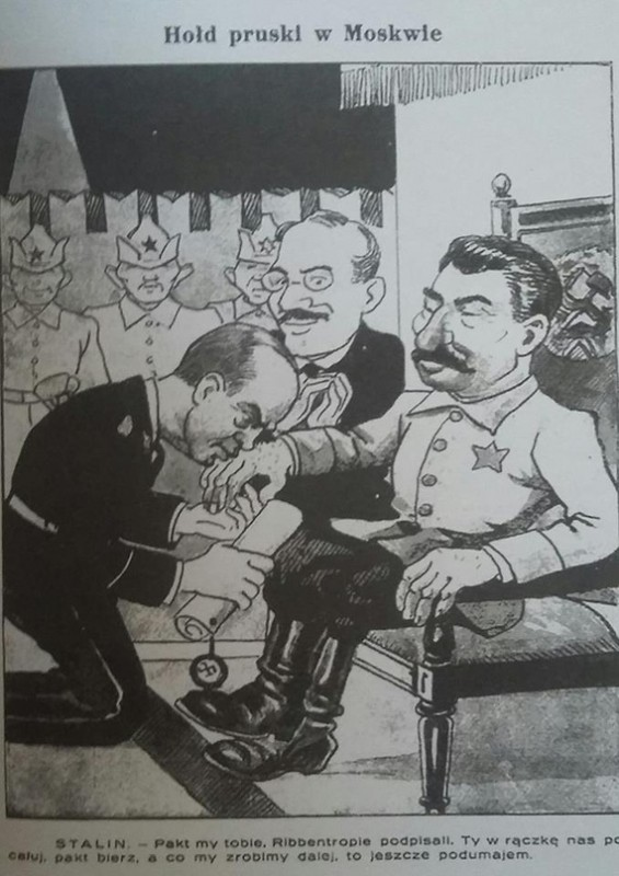 Договор о ненападении между СССР и Германией в карикатуре.