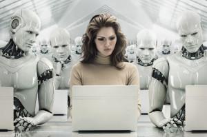человек и робот 3