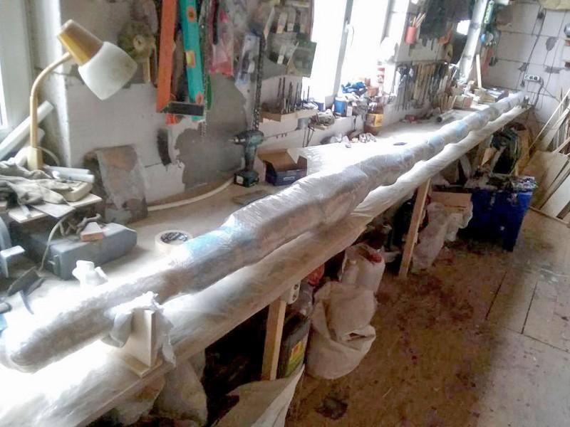 Упаковали. Как египетскую мумию, прямо... : ). Вот и готово.