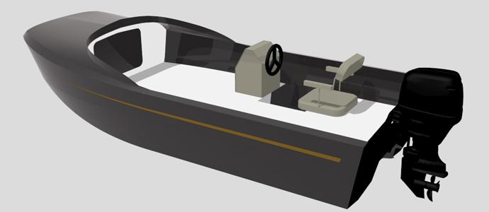 Этот катер только похож на Ripple. Содержательно он совсем иной. Дизайн катамарана был полностью переработан под алюминиевую конструкцию корпуса. Самое интересное, что проект создан для индивидуального заказчика из России. В России же и будет построена пилотная версия. Рекомендуемая мощность - 30 л.с.