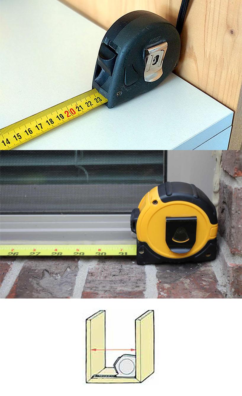Для измерения внутренних размеров необходимо знать размер корпуса рулетки.