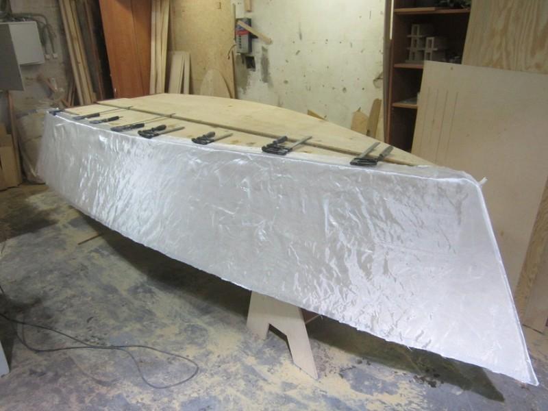 Подготовка к оклейке борта