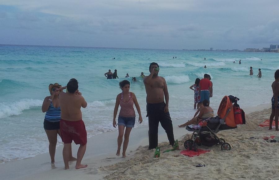 пляж_отец