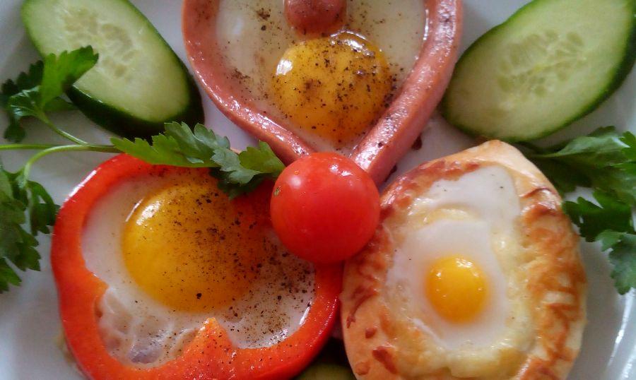 хачапури с яичницей