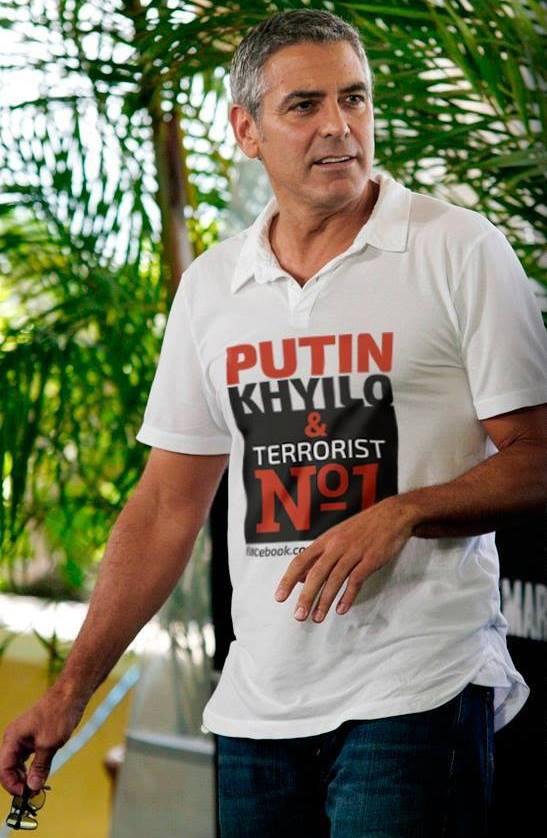 Путинский ватник напал в Перу!  на человека  в футболке с надписью