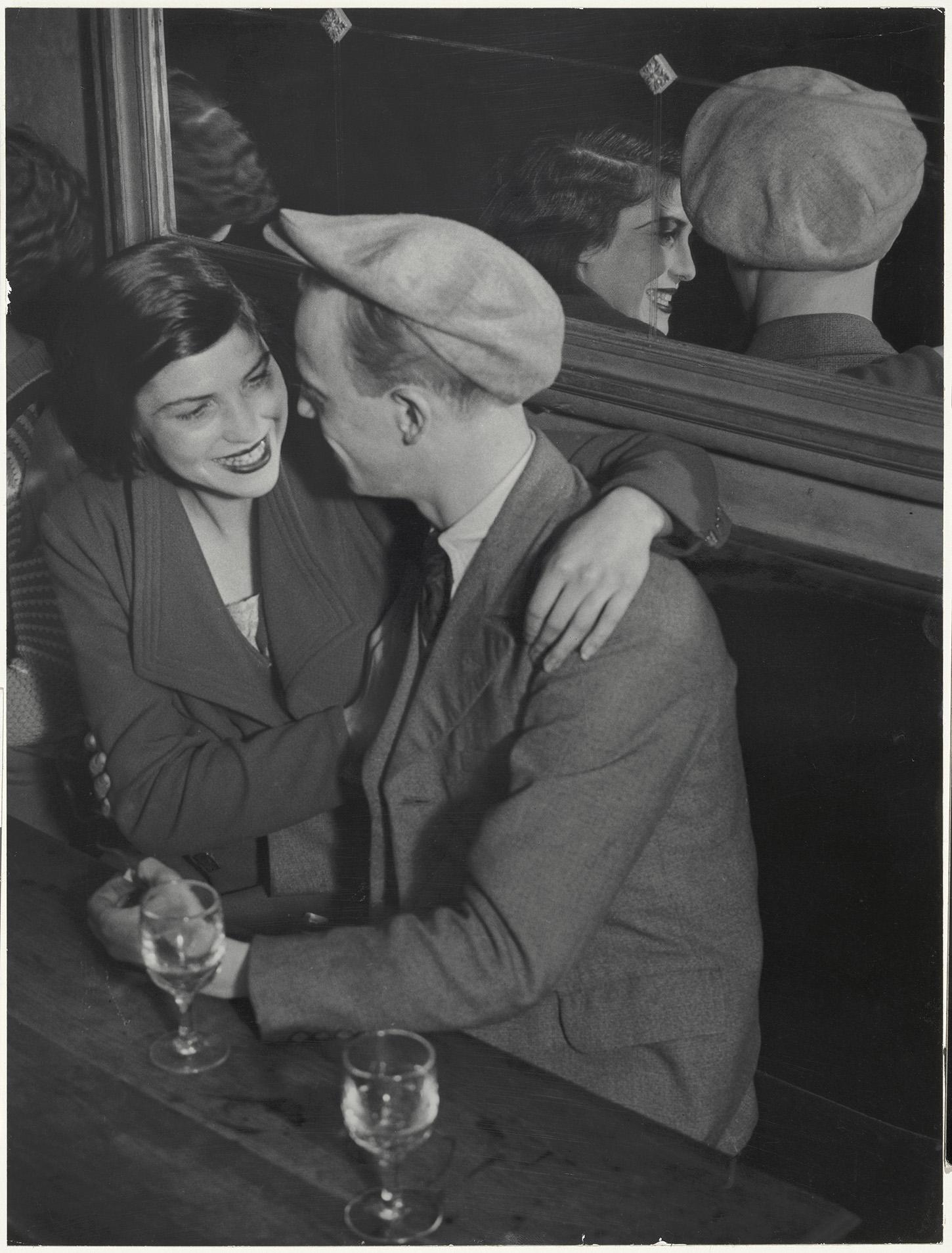 Photo: Brassaï (Gyula Halász) (French, b. Hungary, 1899–1984), Couple au bal musette des Quatre-Saisons, Rue de Lappe, 1932, Gelatin silver print, Bank of America Collection.