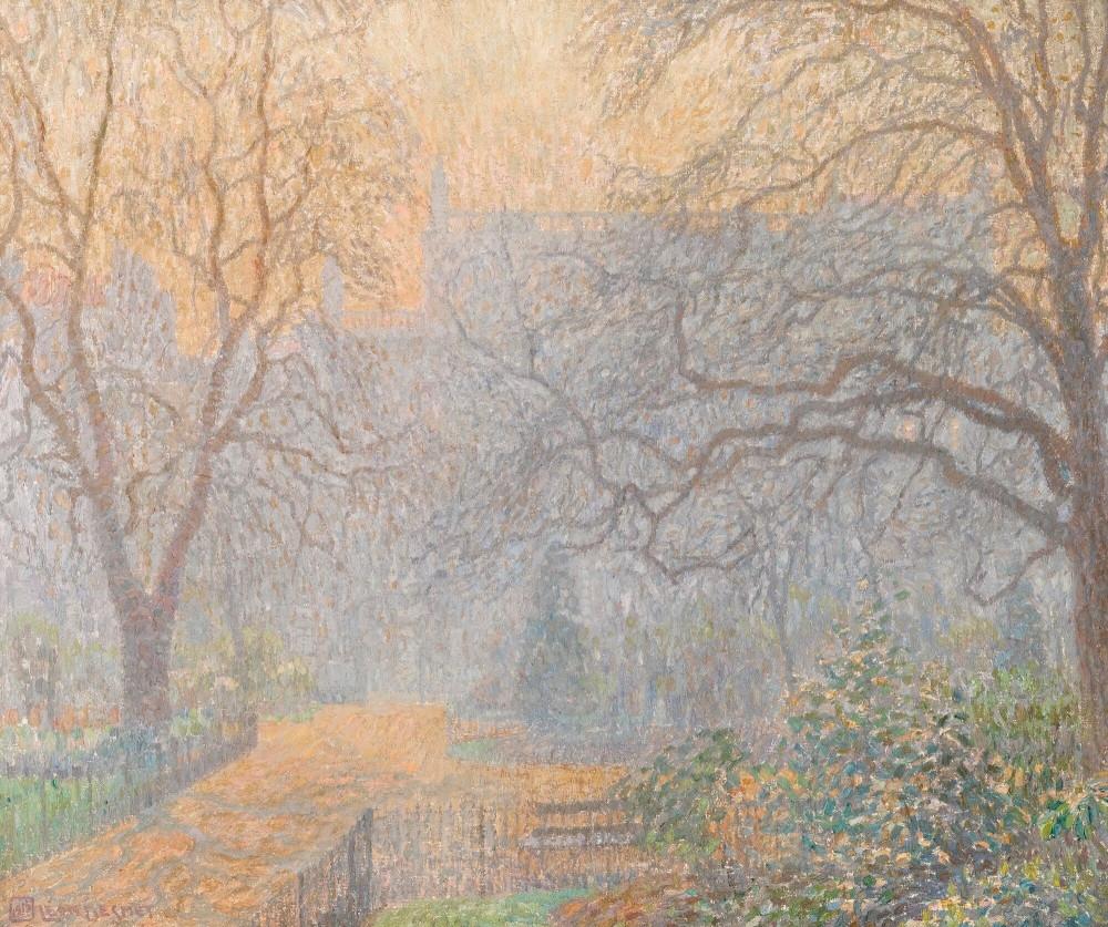 LÉON DE SMET -  PARK IN THE MORNING MIST (HYDE PARK) (Sotheby's)