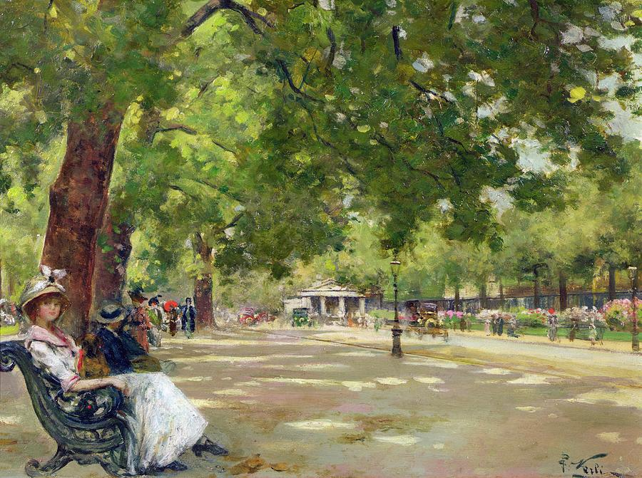 Hyde Park, London - Count Girolamo Pieri Nerli (1863 - 1926)