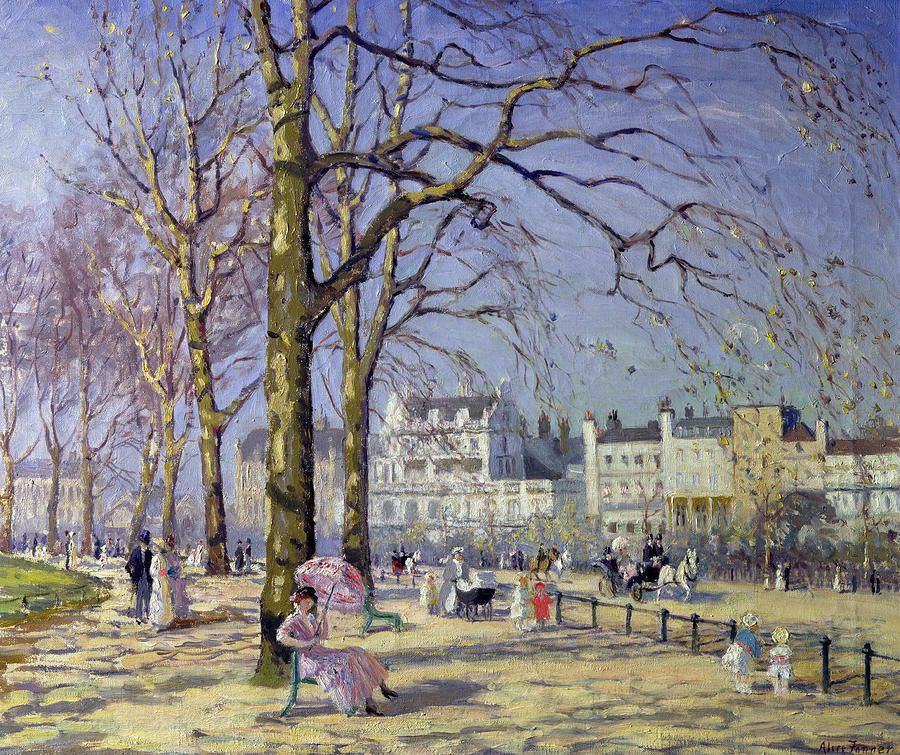 Alice Taite Fanner (1865 – 1930) - Spring in Hyde Park