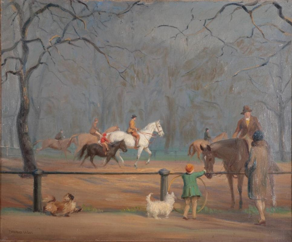 Wood Donald (1889 - 1953) -  Exercising the horses, Rotten Row, Hyde Park
