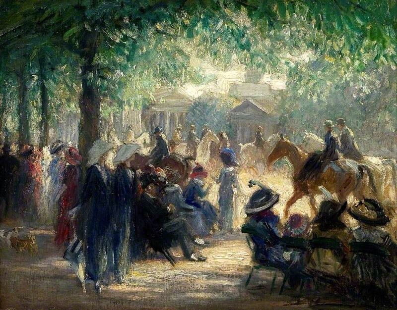 Rotten Row, Sunday Morning in the Park, 1914 by Brian Hatton