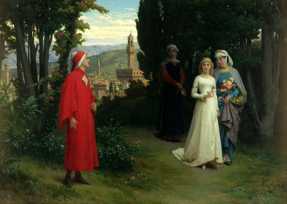 Raffaele Giannetti (1932 - 1916)  - First meeting of Dante and Beatrice.