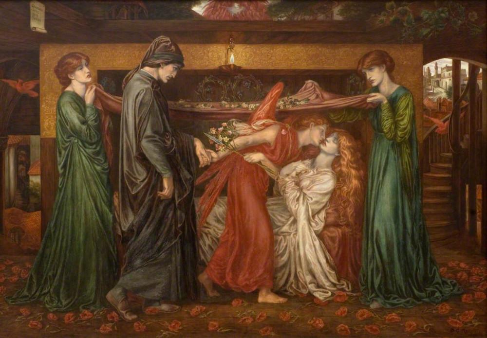 Dante Gabriel Rossetti - Dante's Dream on the Day of the Death of Beatrice (1880)