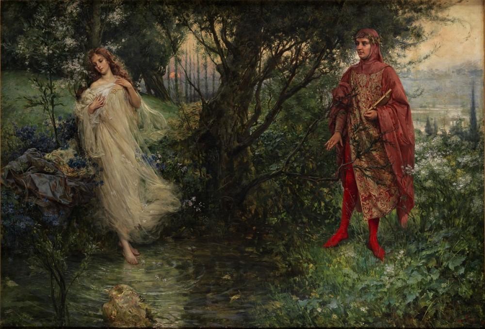 Salvatore Postiglione (1861-1906). Dante and Beatrice