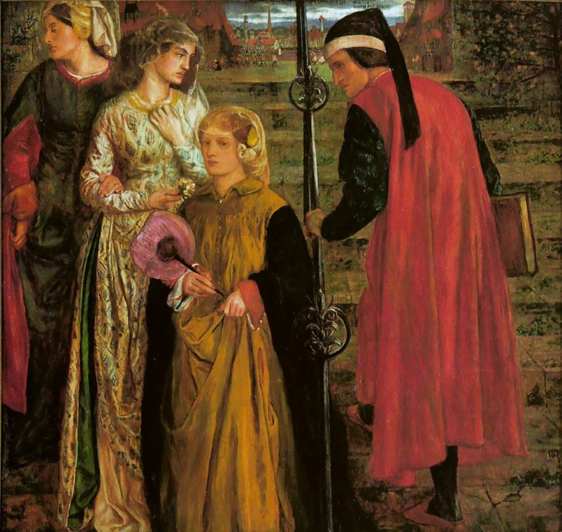Dante Gabriel Rossetti - Salutation of Beatrice - 1