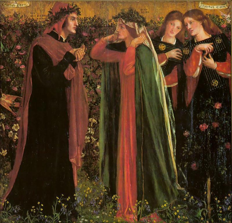 Dante Gabriel Rossetti - Salutation of Beatrice - 2.