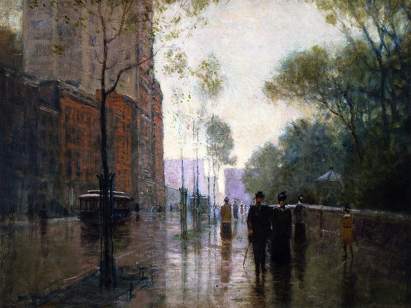 A Rainy Day in New York City, 1905