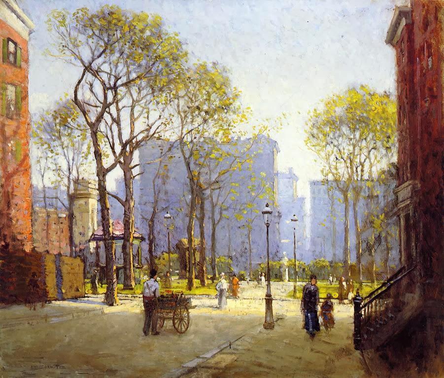 Late Afternoon Washington Square, 1908
