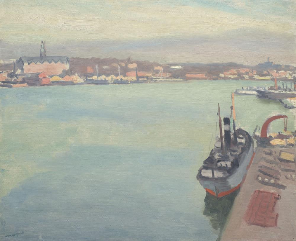 Albert Marquet (1875-1847) Le port de Stockholm, matin de printemps