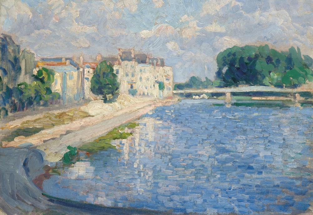 Henri Lebasque (1865-1937) La Marne à Lagny