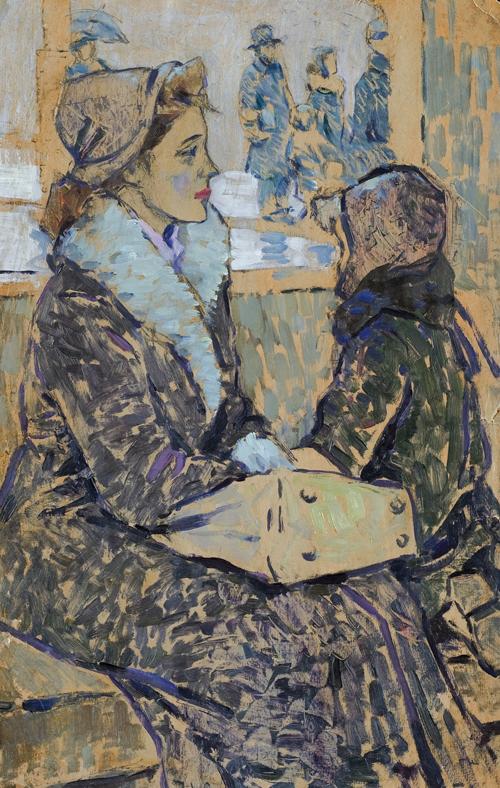 Кузнецов Николай - Ожидание. 1958. Картон, масло (фото : shishkin-gallery.ru)